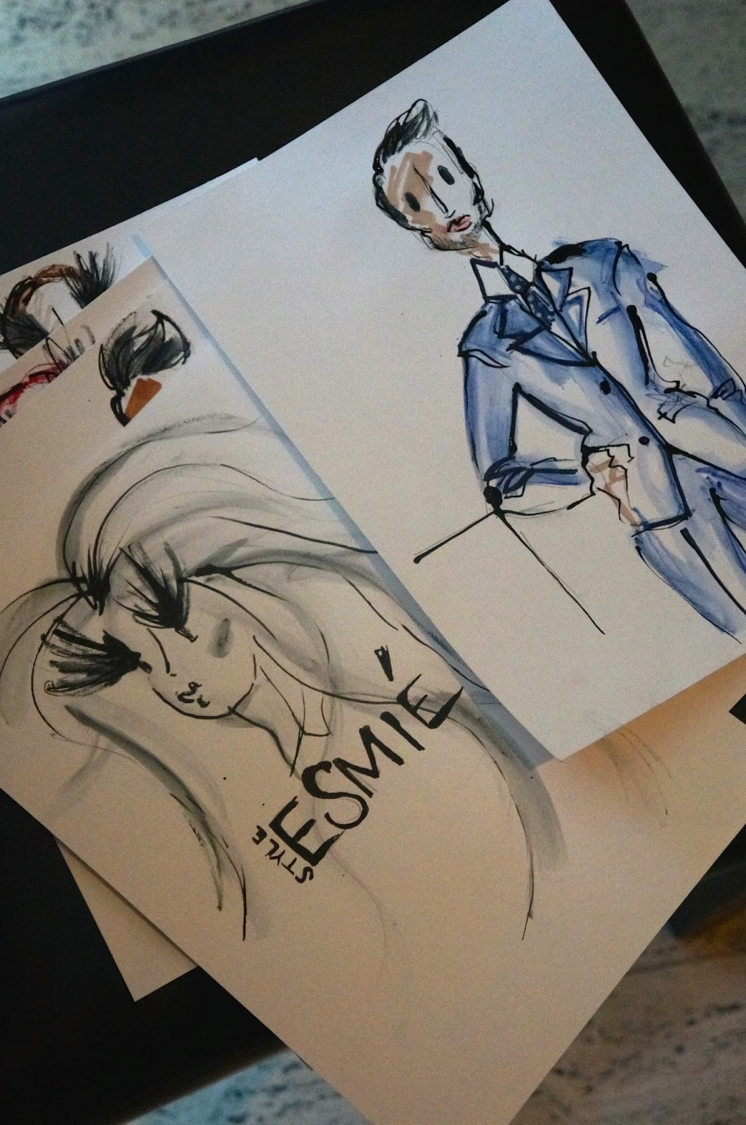 illustation, drawings, artist, talents, fashion blog, ss15 blue hues event, MFI