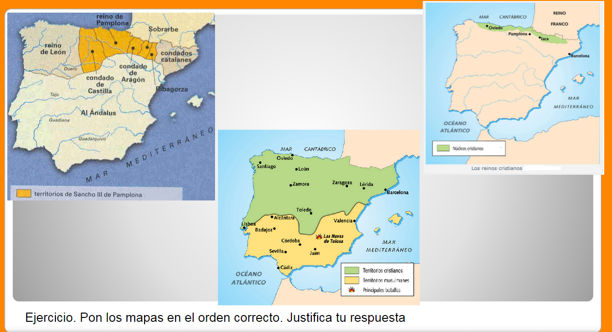 Actividad: La península ibérica en la Edad Media. Mapas | Acércate on