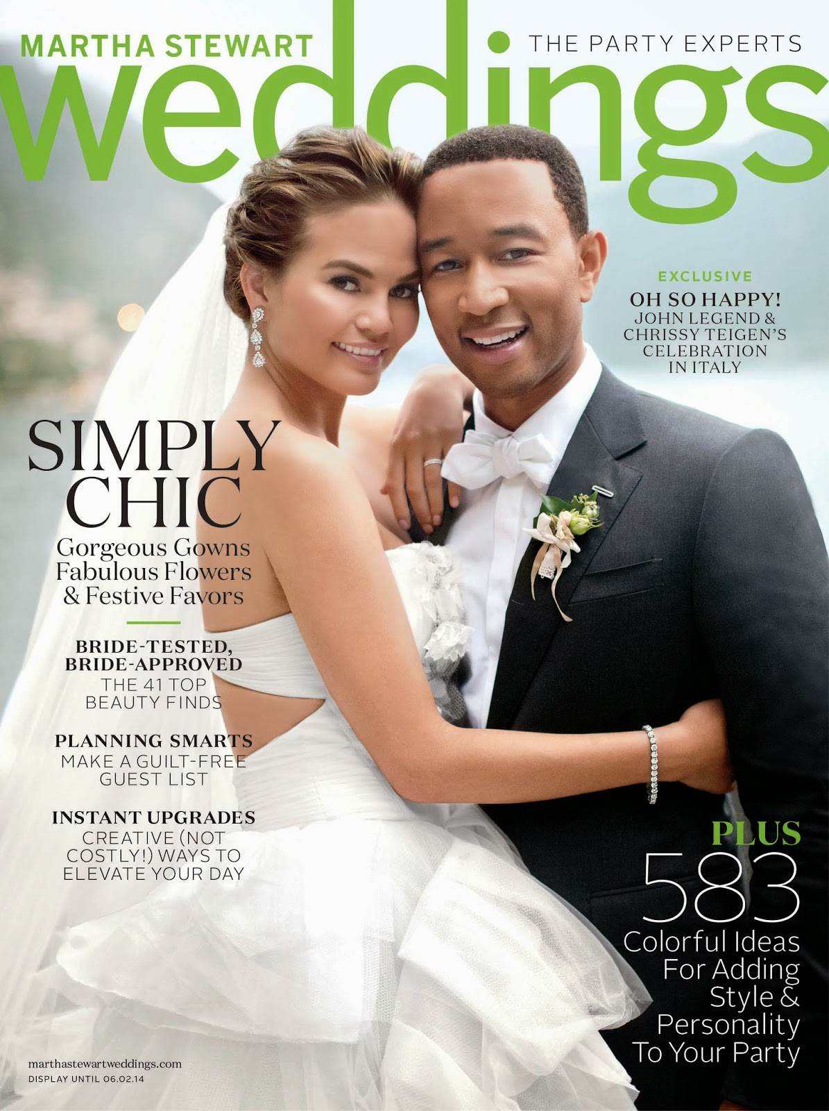 Martha Stewart Weddings Spring 2014 John Legend & Chissy Teigen