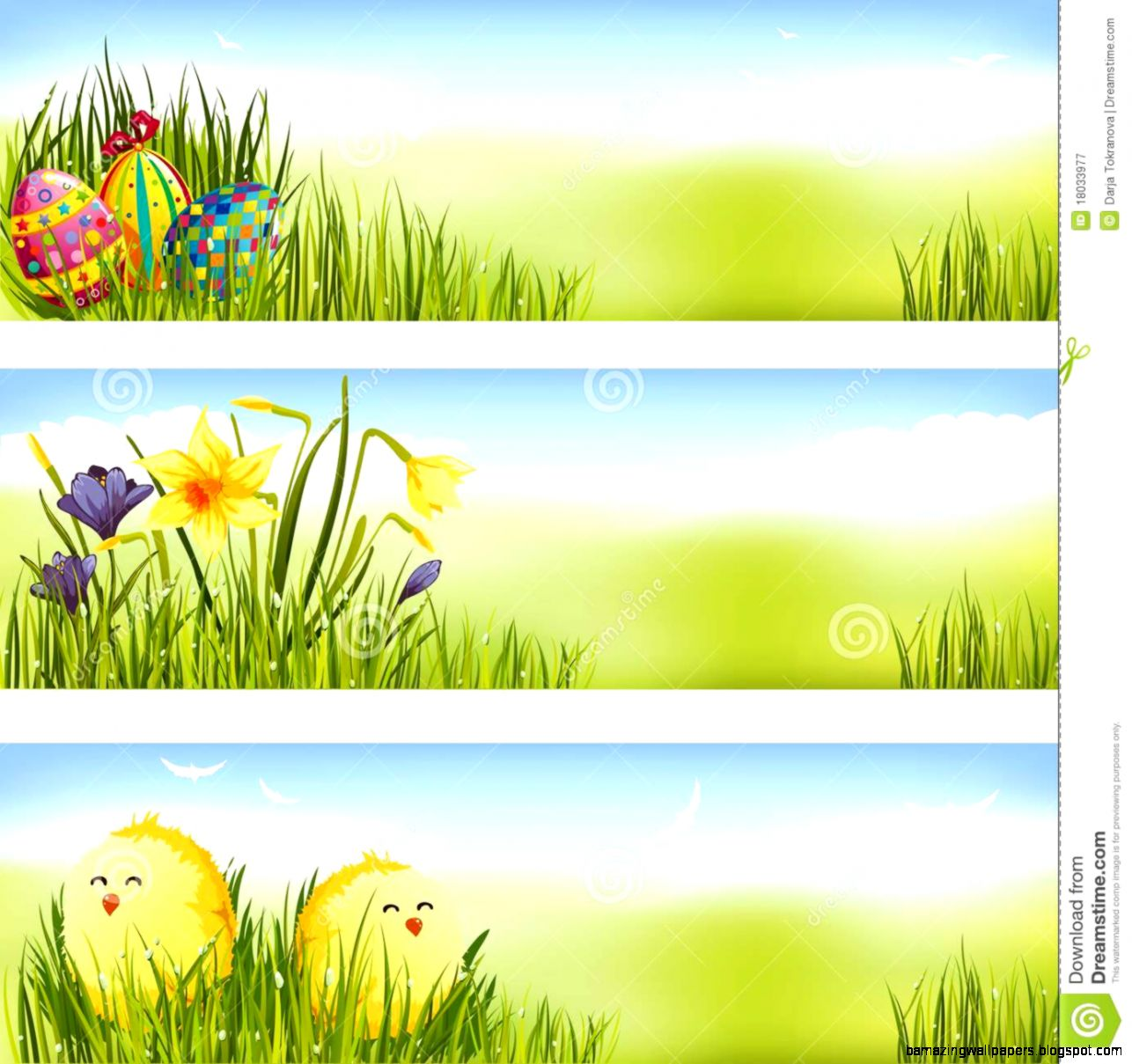 Easter Banner Set Royalty Free Stock Photography   Image 18033977