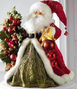 Picture of decorated Xmas Santa Claus
