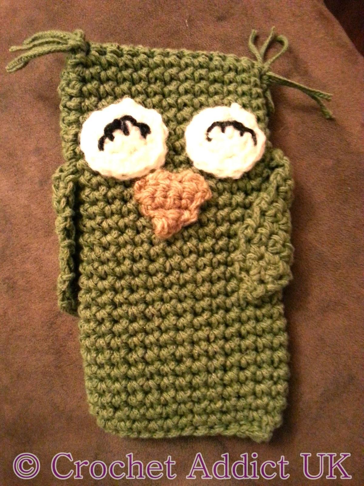 Free Crochet Pattern - Owl Phone Cozy ~ Crochet Addict UK
