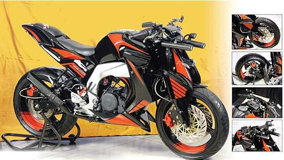 Modifikasi Yamaha Byson Naked Fighter
