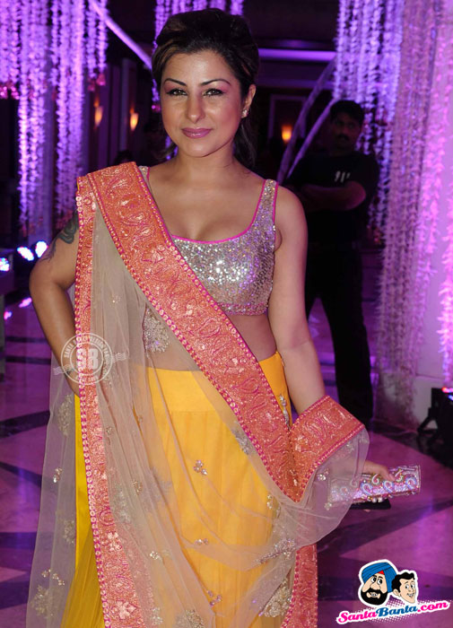 Hard Kaur Hot Lehnga - (4) - Sunidhi Chauhan Wedding Reception Pics