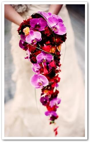 hängande brudbukett orkide, cascade bridal bouquet orchid, tear drop bouquet
