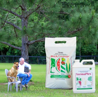 Certified organic worm castings and liquid fertilizer for containers