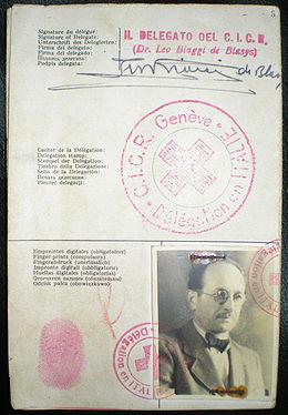 Pasaporte de Eichmann con los datos falsos de Ricardo Klement