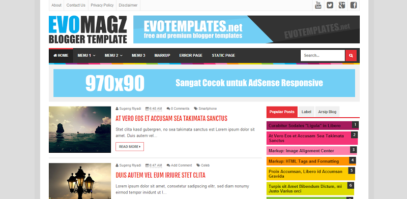 Magz adalah salah satu template responsive karya mas sugeng, template