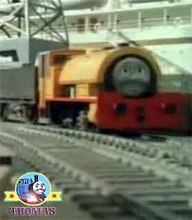 Thomas and friends Bill and Ben the tank engine twins full of activity arranging shipping clay wagon