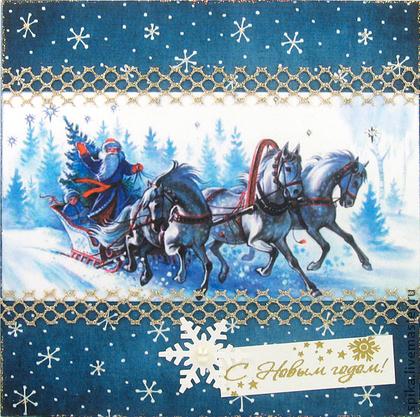 Новогодние открытки с тройкой