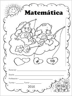 capinha de caderno matemática