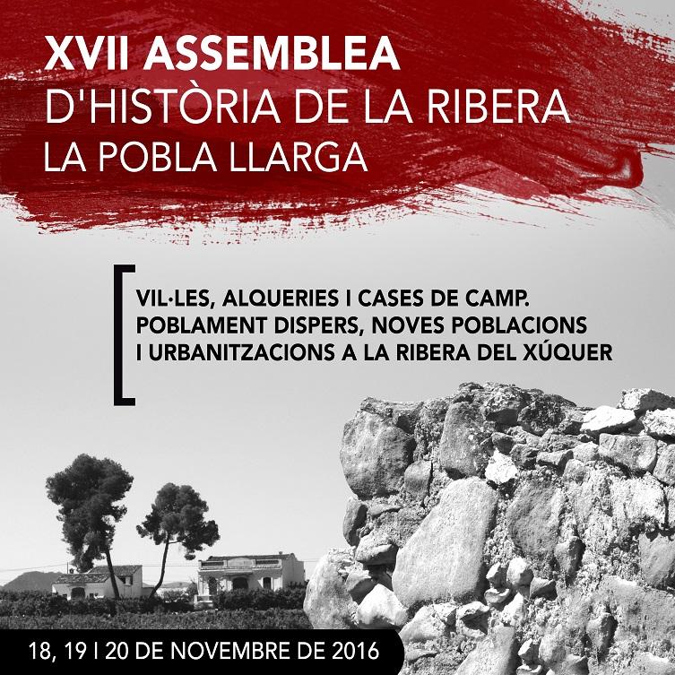 XVII ASSEMBLEA D'HISTÒRIA DE LA RIBERA