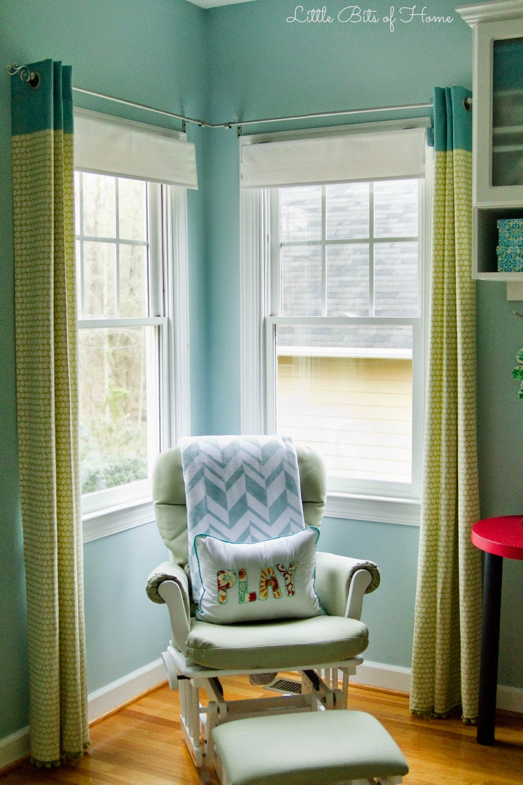 playroom progress curtains pillow