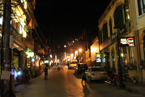 Sapa town at night
