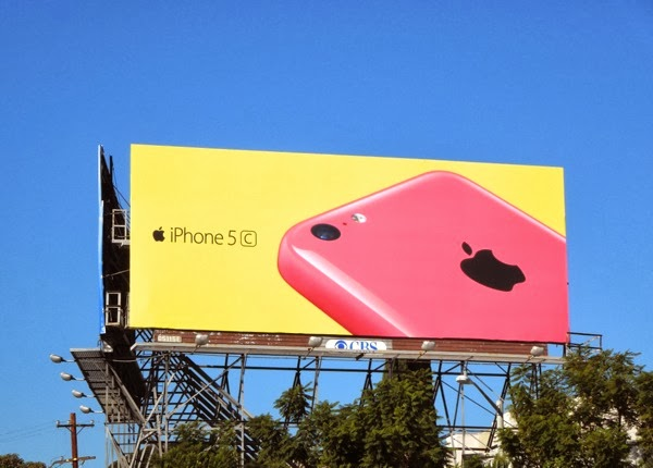 Pink yellow iPhone 5c wave 2 billboard
