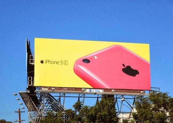 Pink yellow iPhone 5c wave 2 billboard