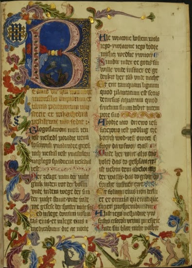 Pierwsza strona Psałterza Floriańskiego