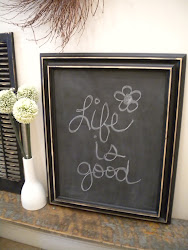 black magnetic chalkboard...SOLD