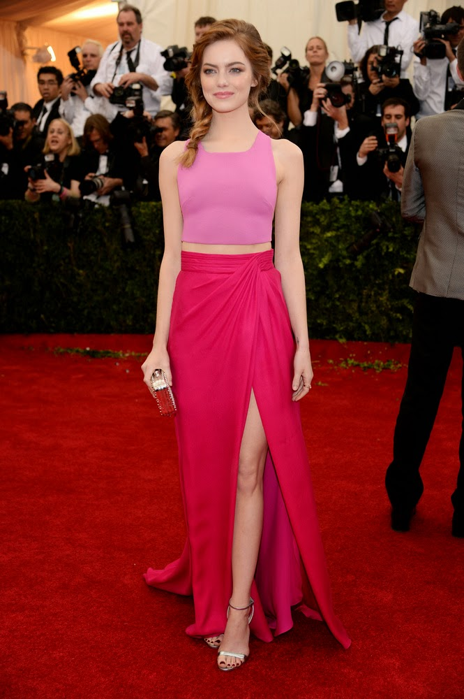 Met Gala 2014 Red Carpet, Emma Stone