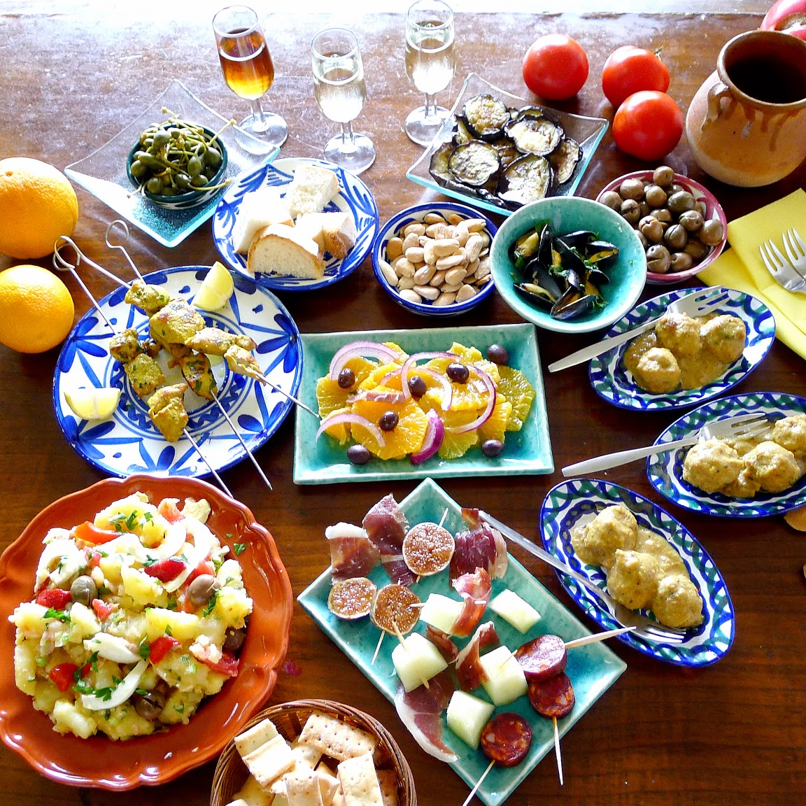 U S Cooking: MY KITCHEN IN SPAIN: COOKING CLASS IN MY KITCHEN IN SPAIN