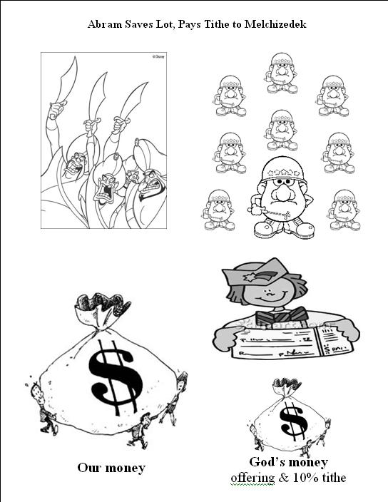 Abram Rescues Lot Coloring Pages