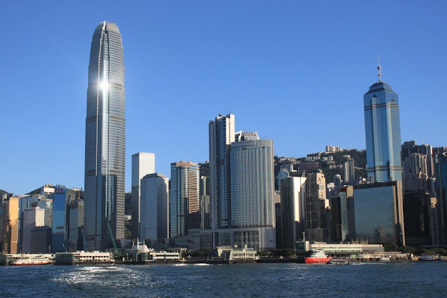 A closer look of Two International Finance Centre and Hong Kong Convention and Exhibition in Hong Kong