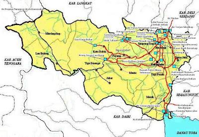 Lokasi Wisata di Kawasan di Kabupaten Karo