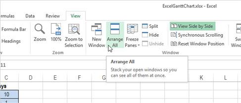 Cách mở nhiều Table cạnh nhau trong Excel 2013 4