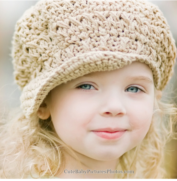 Pictures of baby girls with foral hats and head bands