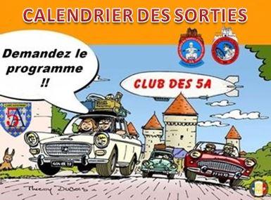 CLUB DES 5.A-CALENDRIER DE NOS SORTIES ...