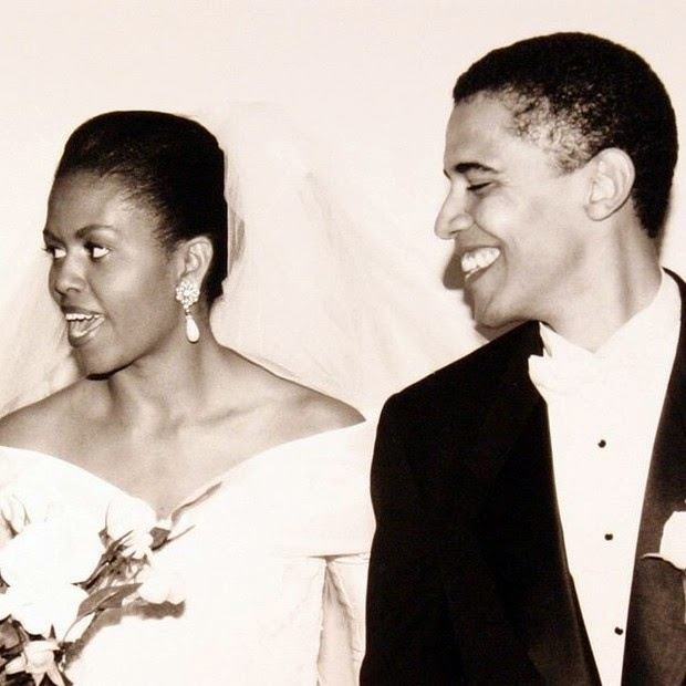 Michelle Obama put photo of bride, celebrating 22 years of marriage