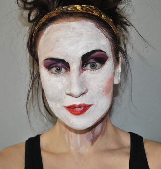 mollie booth parks, makeup artist, painted face, antonio soares, illustration inspired makeup
