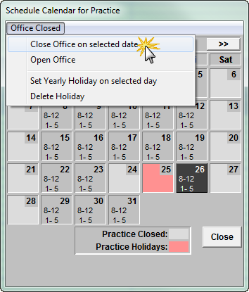 the office schedule