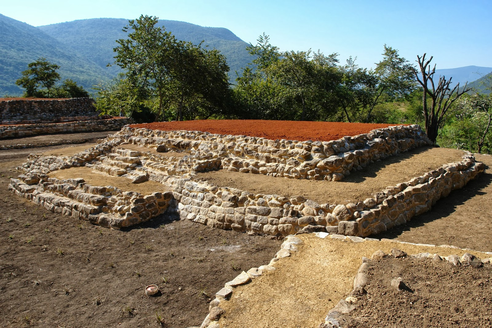 Vista de la zona arqueológica de Tancama de Jalpan de Serra