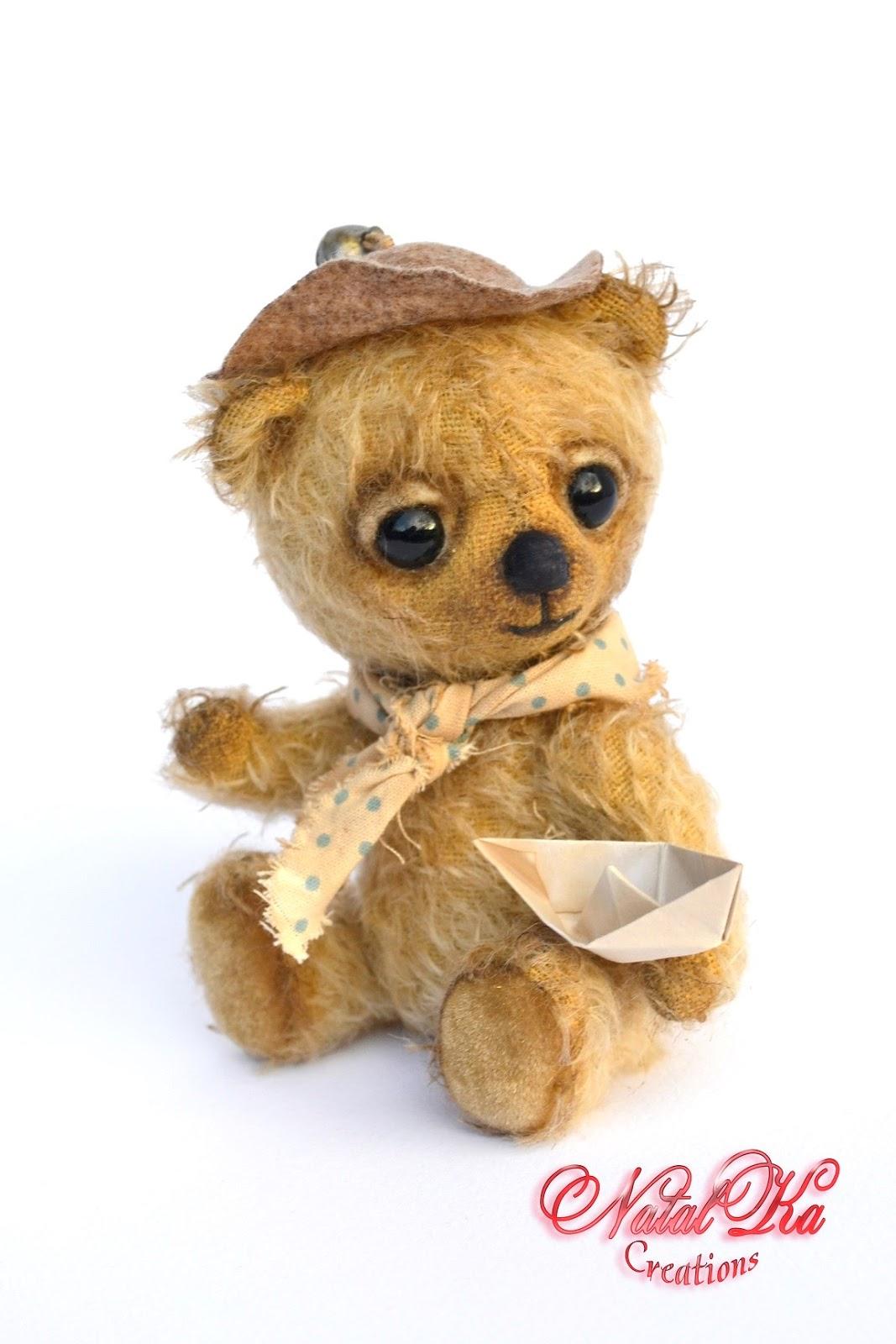 Artist teddy bear, artist bear, bear handmade, teddy bear jounted, teddy ooak, mohair, handmade by NatalKa Creations. Авторский медведь тедди, мишка тедди, медвежонок тедди из мохера от NatalKa Creations