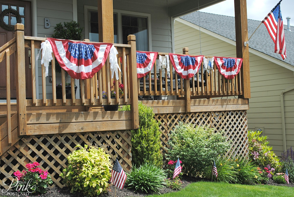 PinkPostcard.*: Fourth of July porch