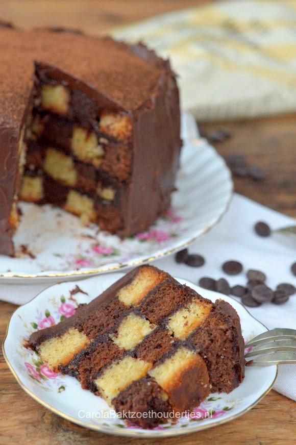 hoe maak je blokken cake dambord cake