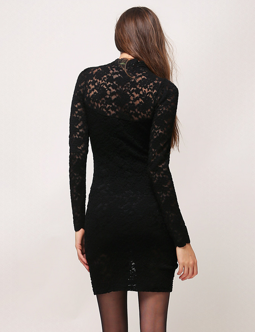 Key-Hole Lace Dress