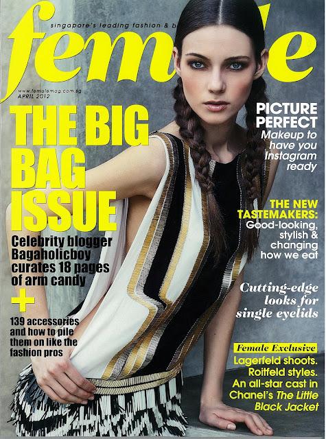 Julia Leonova for Female Magazine cover
