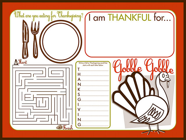 Be DifferentAct Normal Printable Thanksgiving Activity Sheet For Kids