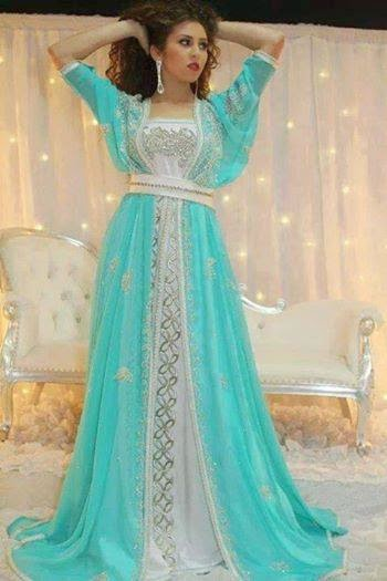 Robe de mariage musulman bleu for Location de robe de mariage en ligne