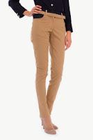Pantaloni crem din bumbac SR062CS (Ama Fashion)