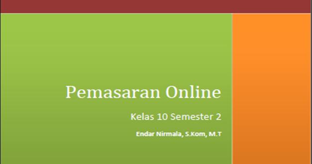 Blog Ilmu Matematika Buku Pemasaran Online Kelas 10 Kurikulum 2013 Oleh Yoyo Apriyanto Phone