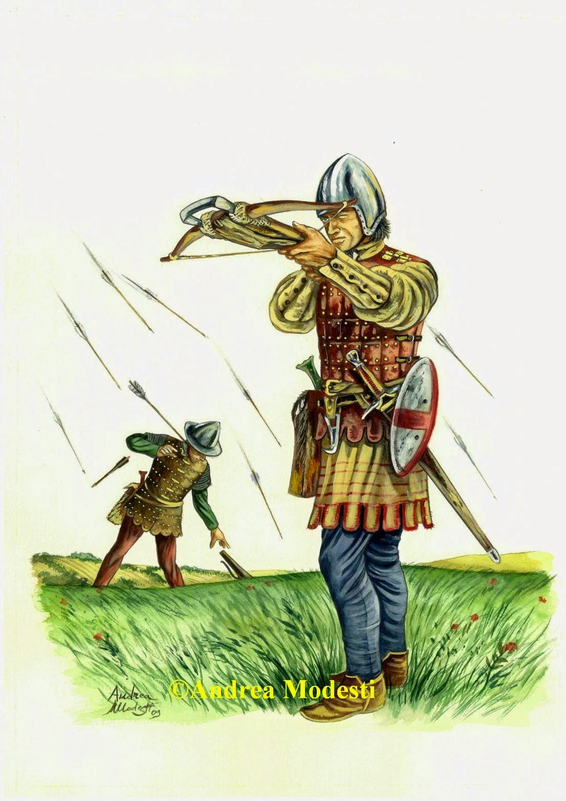Andrea Modesti Art English Longbowman 1346 Ad