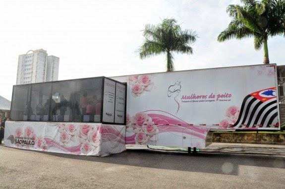 Carreta do Programa Mulheres de Peito ficará um mês em Praia Grande