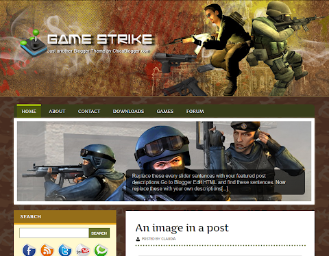 Game Strike Blogger Theme
