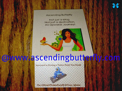 Tiny Prints Ascending Butterfly Business Card Front