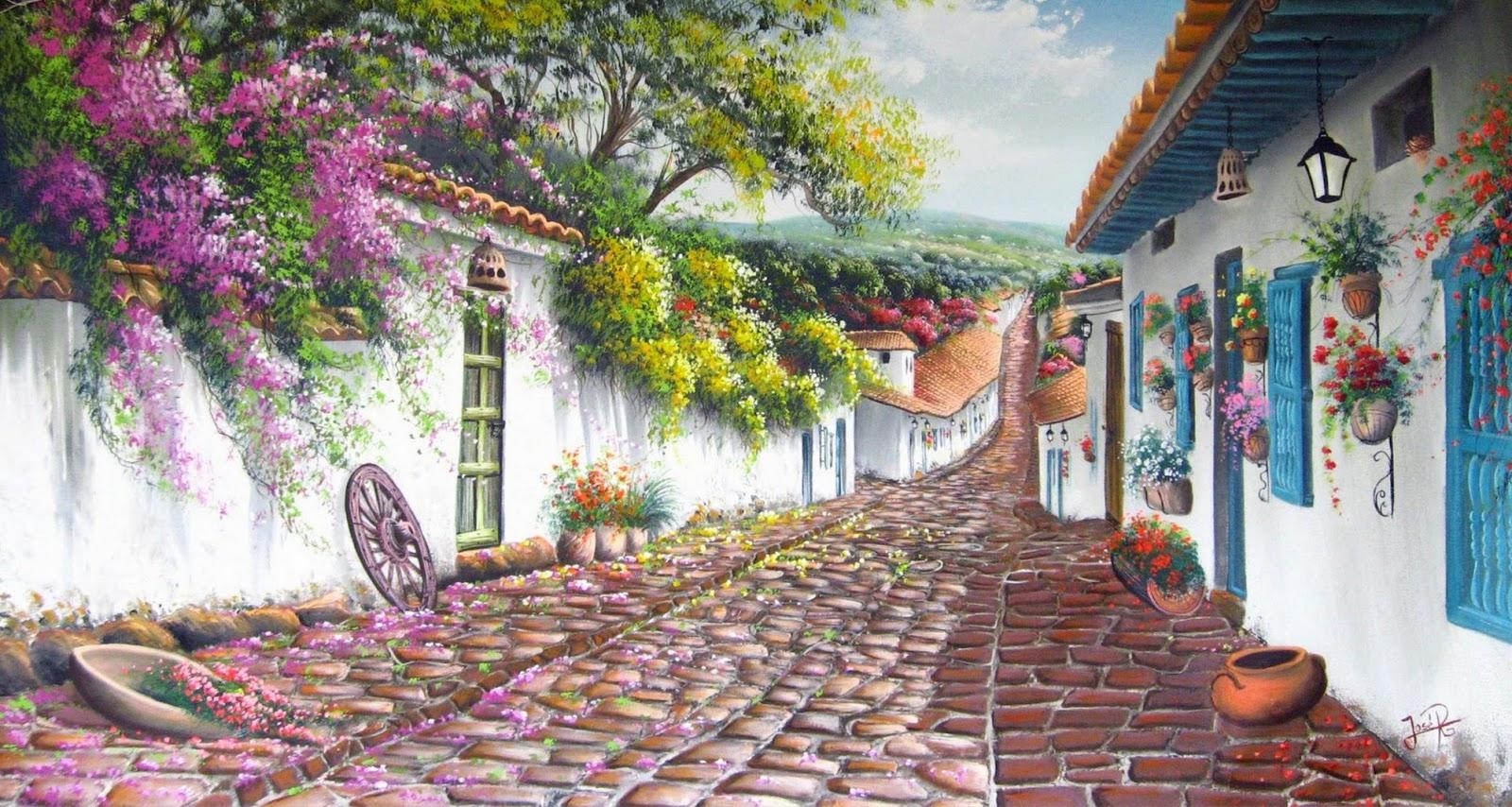 Pintura moderna y fotograf a art stica paisajes for Cuadros mexicanos rusticos