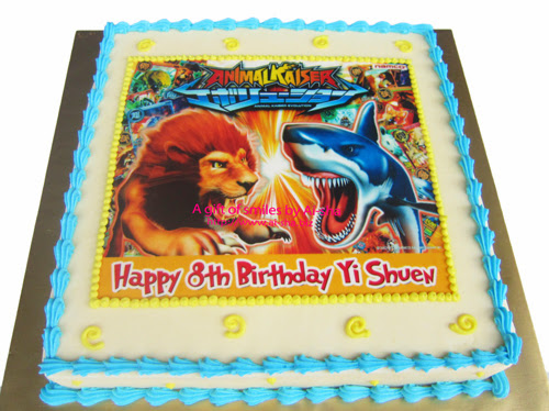 Birthday Cake Edible Image Animal Kaiser  Ai-sha Puchong Jaya
