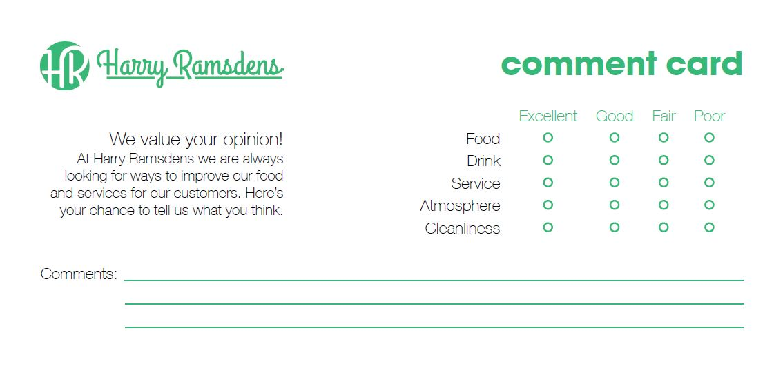 Business Card & Comment Card | Sarah Burns Work Based Learning 1